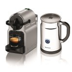 $99.00 Nespresso Inissia Espresso Maker with Aeroccino Plus Milk Frother, Silver