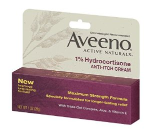 $ 4.72 Aveeno Anti-Itch Cream 1% Hydrocortisone Maximum Strength 1 Ounce (Pack of 2)