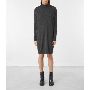 ALLSAINTS US: Womens Granville Dress (Charcoal Grey)