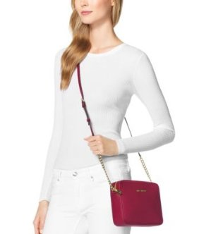 $88.2(Org. $168) MICHAEL MICHAEL KORS  Jet Set Large Saffiano Leather Crossbody Sale @ Michael Kors