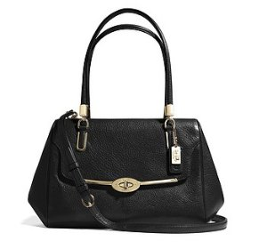 COACH Madison Small Leather Madeline East/West Satchel