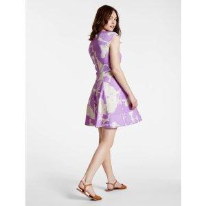 Printed Cotton Sateen Dress