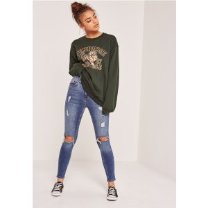 Tennessee Nashville Sweatshirt Green - Missguided
