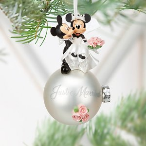 Minnie and Mickey Mouse Wedding Ornament | Disney Store