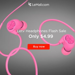 $4.99 Letv Reverse In-Ear Headphones 4Days Promotion