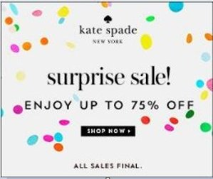 Dealmoon Extended Access ! Up to 70% off Surprise Sale @ kate spade new york