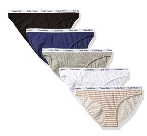 Calvin Klein Women's 5 Pack Cotton Stretch Logo Bikini