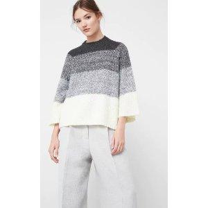 Oversize wool-blend sweater
