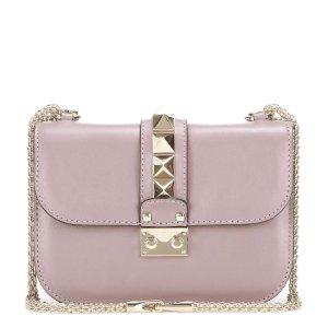 mytheresa.com - Lock Small leather shoulder bag - Luxury Fashion for Women / Designer clothing, shoes, bags