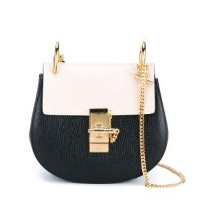 CHLOE Mini Drew Two-Tone Bag