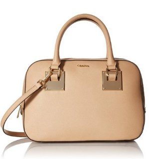 $88.65 Calvin Klein Small Saffiano Satchel Bag