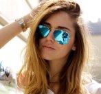 $104.99 Ray-Ban Aviator Blue Flash Lens Sunglasses