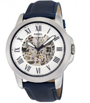 Fossil Grant Automatic Silver Skeleton Dial Men's Watch FSME3111