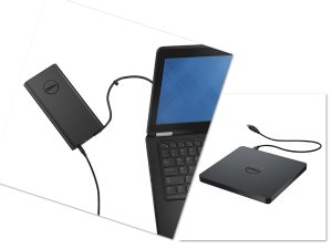 $125.99 + $150GC Dell Power Companion (18000 mAh) PW7015LD + External USB Slim DVD+/-RW Optical Drive