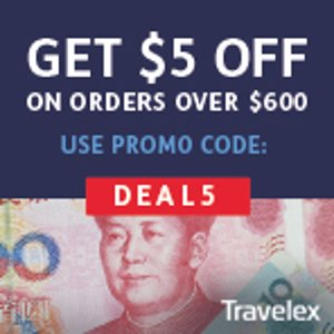 $5 off $600 Get an Exclusive Deal on Your Currency Exchange