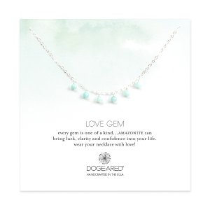 Love Gems Dangling Amazonite Necklace, Sterling Silver | Dogeared