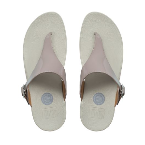 The Skinny Imi-Leather Flip Flops Plumthistle | Official FitFlop Store
