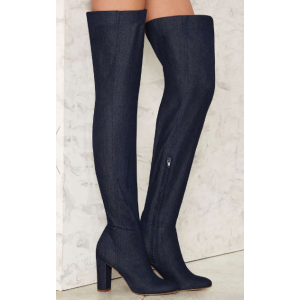 Nasty Gal Time Will Twill Denim Boot