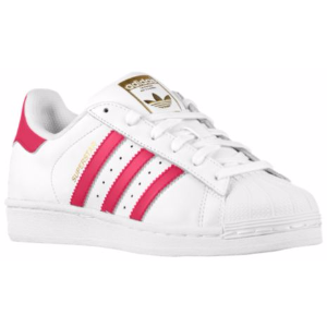 adidas Originals Superstar - Girls' Grade School - Basketball - Shoes - White/Bold Pink/White