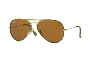 Ray-Ban Unisex Camouflage Green Aviator Sunglasses