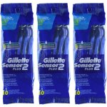 Gillette Sensor2 Plus Men's Disposable Razor 10 Count (Pack of 3)