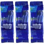 Gillette Sensor2 Plus Men's Disposable Razor 10 Count (Pack of 3)