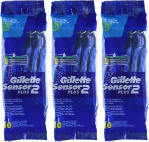 $28.16Gillette Sensor2 Plus Men's Disposable Razor 10 Count (Pack of 3)