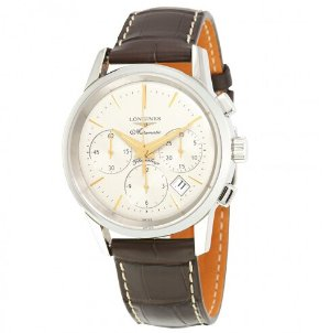 LONGINES Heritage Flagship Chronograph Silver Dial Automatic Men's Watch