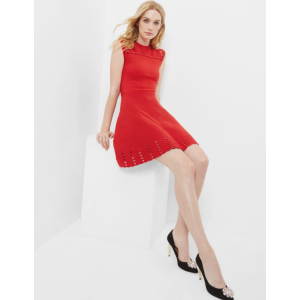Jacquard cut-out dress - Bright Red | Dresses | Ted Baker