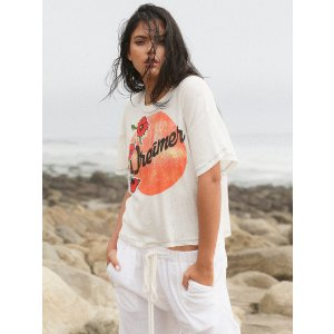We The Free Ivory Combo We The Free Dreamer Tee at Free People Clothing Boutique