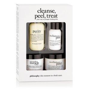 cleanse peel treat   trial kit   philosophy new!
