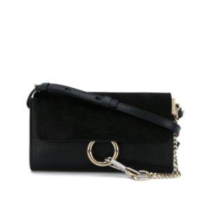 CHLOE Mini Faye Wallet Bag - Black