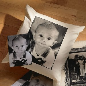 Personalized Photo Accent Pillow With Plain Border - Walmart.com