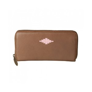 Pampeano 100% Leather Rico Zipped Women Purse – Tan with Pink Diamond - Accessories | Unineed | Premium Beauty