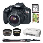 Canon EOS Rebel T6 Digital SLR Camera with 18-55mm IS II Lens Bundle Deal
