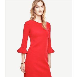 Fluted Sleeve Dress | Ann Taylor