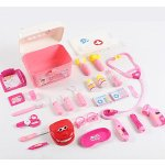 Gamzoo Doctor Nurse Medical Kit Playset with Coat for Kids