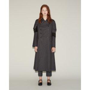 COMME DES GARÇONS | Wool Velveteen Coat | Shop at La Garçonne
