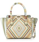$1269 Valentino Rockstud Geometric Striped Shoulder Bag