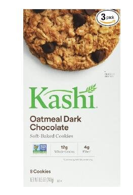 $5.34 Kashi Cookies Oatmeal Dark Chocolate 8.5-Ounce Boxes (Pack of 3)