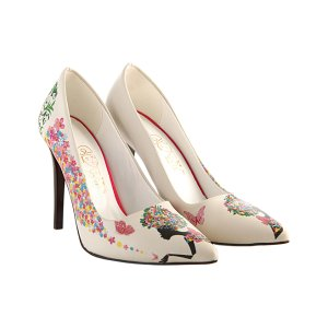 Goby White & Pink Flower Goddess Pump - Women | zulily