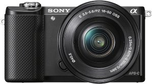 Sony Alpha a5000 Mirrorless Camera with 16-50mm Retractable Lens Black ILCE5000L/B - Best Buy