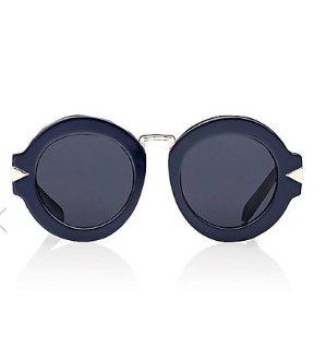 $83.4 + 包邮KAREN WALKER Maze 墨蓝色太阳眼镜热卖