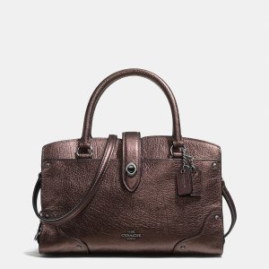 MERCER satchel 24 in grain leather by Coach