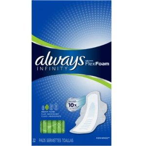 $2.88 Always Infinity Pads With Wings, Super Absorbency, 32 Count