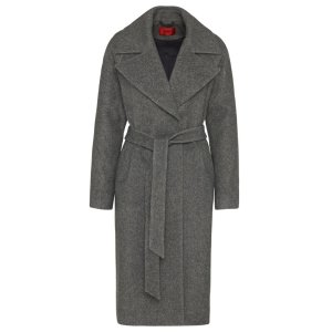 'Meone' | Virgin Wool Blend Open Front Coat