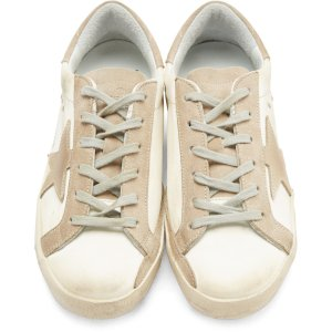 Golden Goose: White Satin Superstar Sneakers