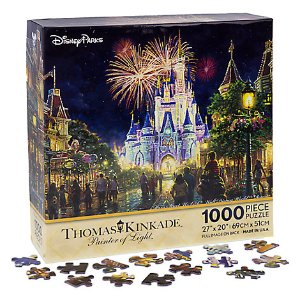 Main Street USA Walt Disney World Resort Puzzle by Thomas Kinkade | Disney Store
