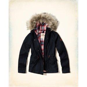 Girls Wool Anorak Jacket | Girls Clearance | HollisterCo.com