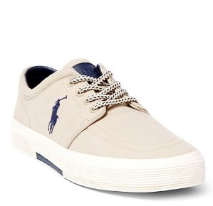 CANVAS FAXON LOW SNEAKER @ Ralph Lauren
